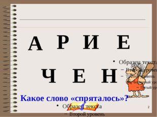 onachishich@mail.ru А Н И Е Р Ч Е Какое слово «спряталось»?