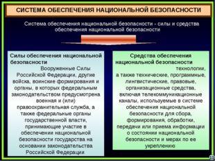 11 Система обеспечения национальной безопасности - силы и средства обеспечени