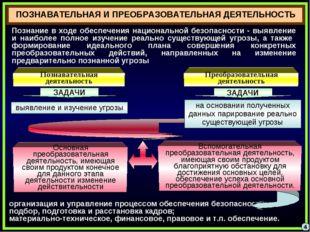 4 ПОЗНАВАТЕЛЬНАЯ И ПРЕОБРАЗОВАТЕЛЬНАЯ ДЕЯТЕЛЬНОСТЬ Познание в ходе обеспечени