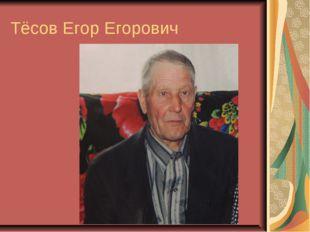 Тёсов Егор Егорович
