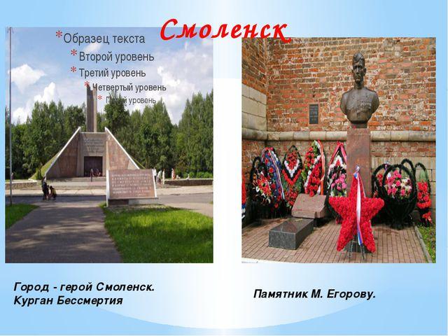 Город - герой Смоленск. Курган Бессмертия Памятник М. Егорову. Смоленск