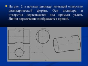 На рис. 2, а показан цилиндр, имеющий отверстие цилиндрической формы. Оси цил
