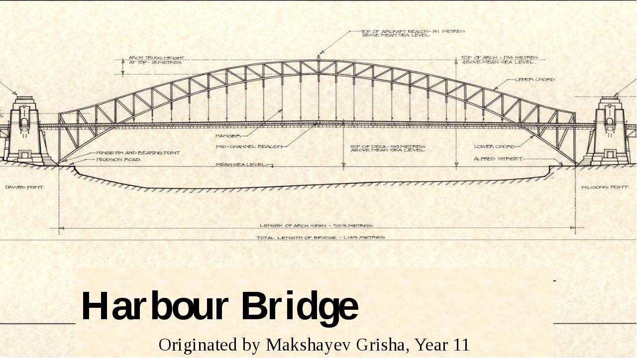 Harbour Bridge Originated by Makshayev Grisha, Year 11