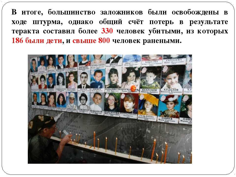 В итоге, большинство заложников были освобождены в ходе штурма, однако общий...