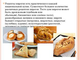 Рецепты пирогов есть практически в каждой национальной кухне. Существует боль