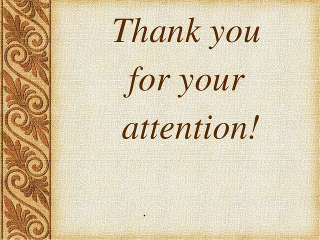 . Thank you for your attention!
