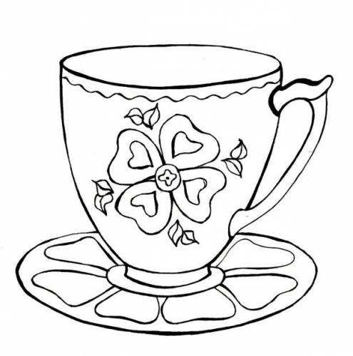 чашка и блюдце Гжель