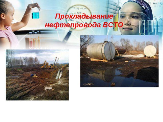 Прокладывание нефтепровода ВСТО Здесь были мы…