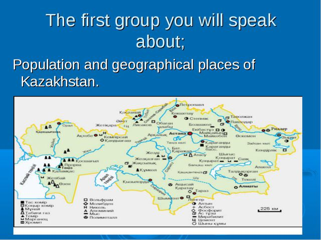 The first group you will speak about; Population and geographical places of K...