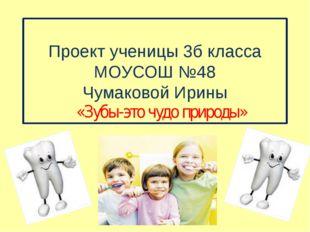 Проект ученицы 3б класса МОУСОШ №48 Чумаковой Ирины «Зубы-это чудо природы»