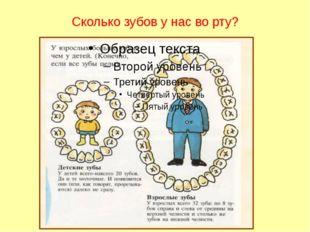 Сколько зубов у нас во рту?