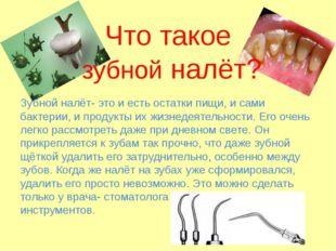 Что такое зубной налёт? Зубной налёт- это и есть остатки пищи, и сами бактери