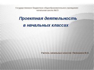 Государственное бюджетное общеобразовательное учреждение начальная школа №15