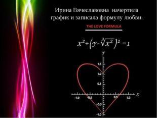 Ирина Вячеславовна начертила график и записала формулу любви. Powerpoint Temp