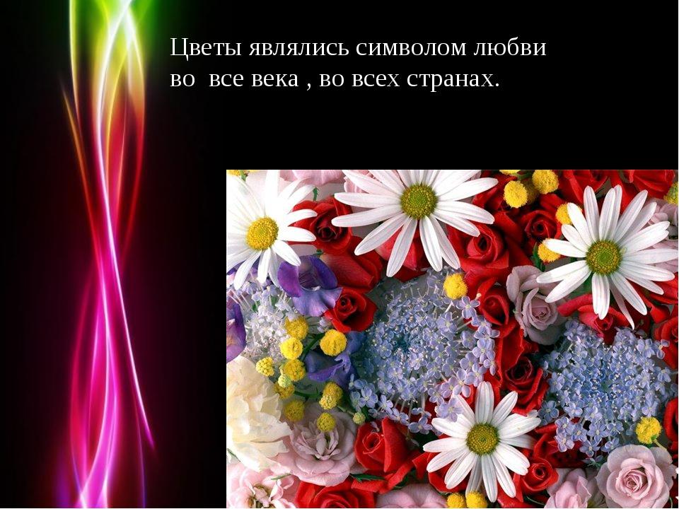 Цветы являлись символом любви во все века , во всех странах. Powerpoint Templ...