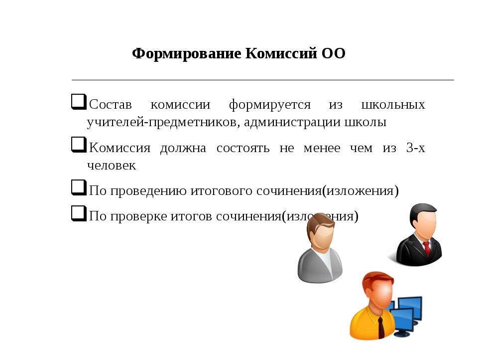 Состав комиссии формируется из школьных учителей-предметников, администрации...