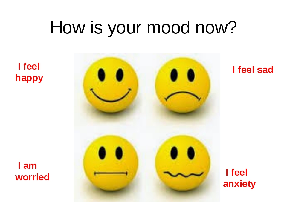 How is your mood now? I feel happy I feel sad I am worried I feel anxiety