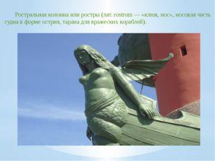 Ростральная колонна или ростры (лат. rostrum — «клюв, нос», носовая часть суд