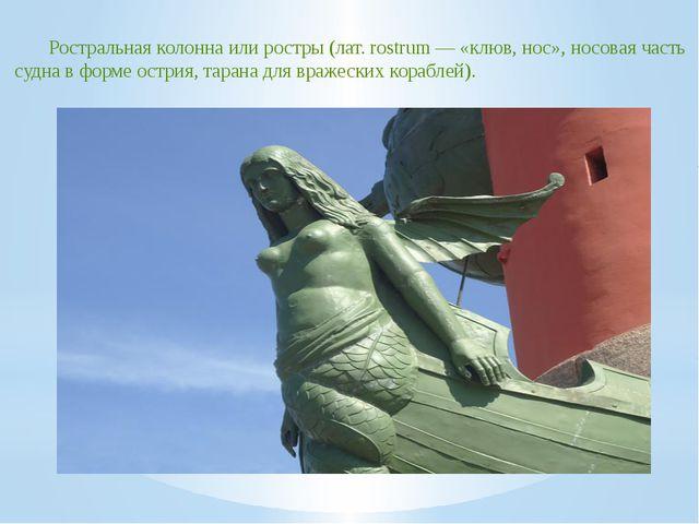 Ростральная колонна или ростры (лат. rostrum — «клюв, нос», носовая часть суд...