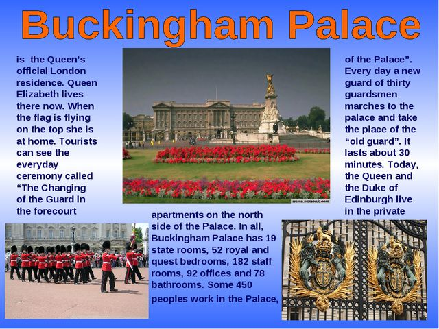 """of the Palace"""". Every day a new guard of thirty guardsmen marches to the pala..."""