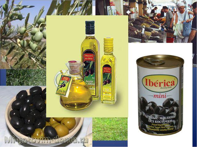 В Греции выращивают оливковые деревья, на которых созревают оливки (маслины)....
