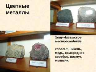 Цветные металлы Хову-Аксынское месторождение: кобальт, никель, медь, самородн