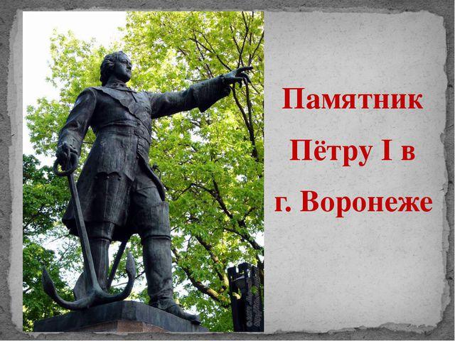 Памятник Пётру I в г. Воронеже