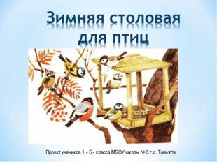 Проект учеников 1 « Б» класса МБОУ школы № 3 г.о. Тольятти
