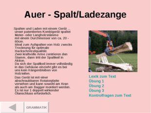 Auer - Spalt/Ladezange Spalten und Laden mit einem Gerät ... unser patentiert