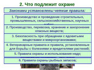 2. Что подлежит охране Законами установлены четкие правила: 1. Производство и