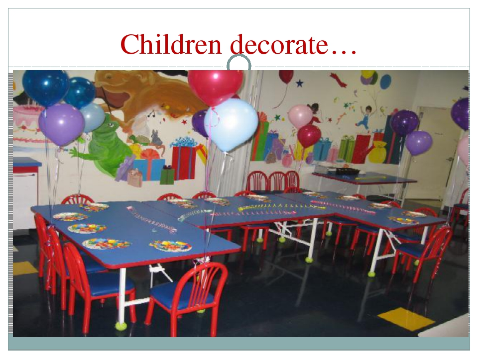 Children decorate…
