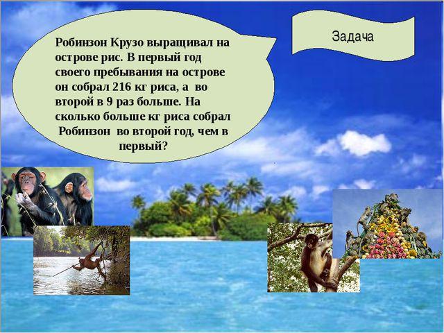 Задача Робинзон Крузо выращивал на острове рис. В первый год своего пребыван...