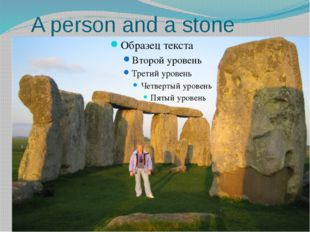 A person and a stone