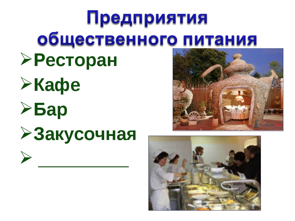 Ресторан Кафе Бар Закусочная _________