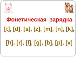 Фонетическая зарядка [t], [d], [s], [z], [m], [n], [k], [h], [r], [l], [g],