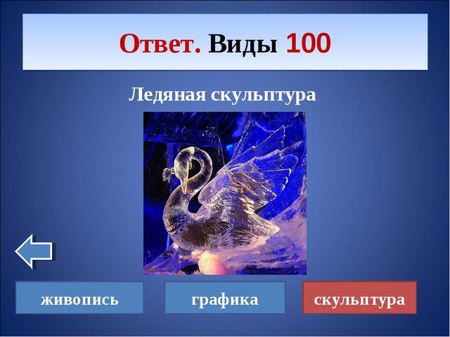 Ледяная скульптура Ответ. Виды 100 скульптура живопись графика