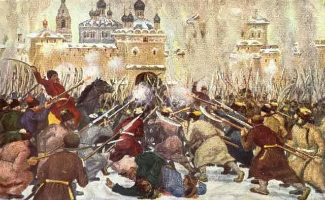 Осада Макарьевского монастыря восставшими крестьянами в в 1670 г