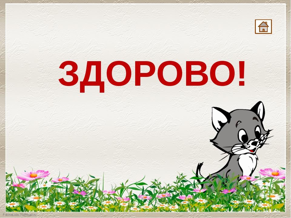 ЗДОРОВО! FokinaLida.75@mail.ru