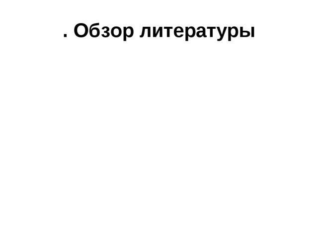 . Обзор литературы