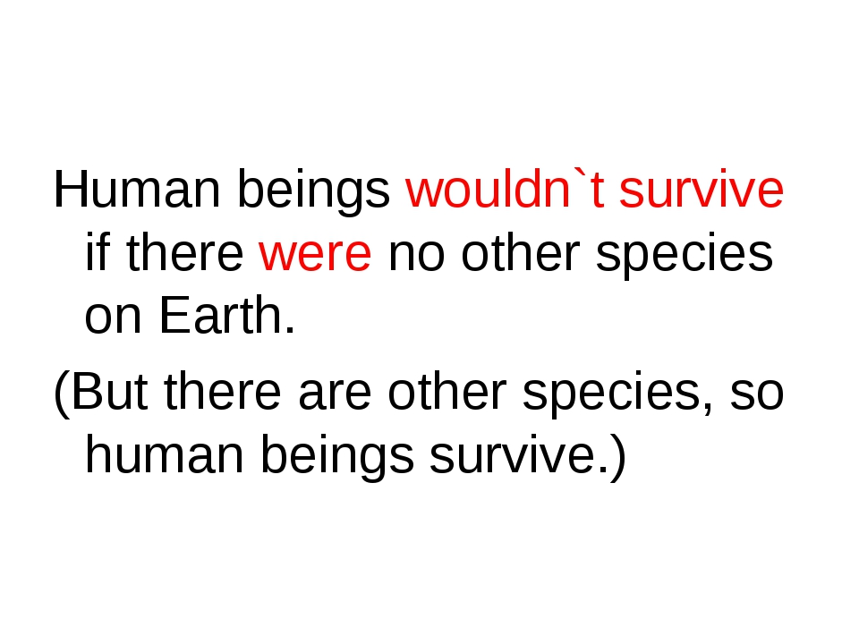 Human beings wouldn`t survive if there were no other species on Earth. (But t...