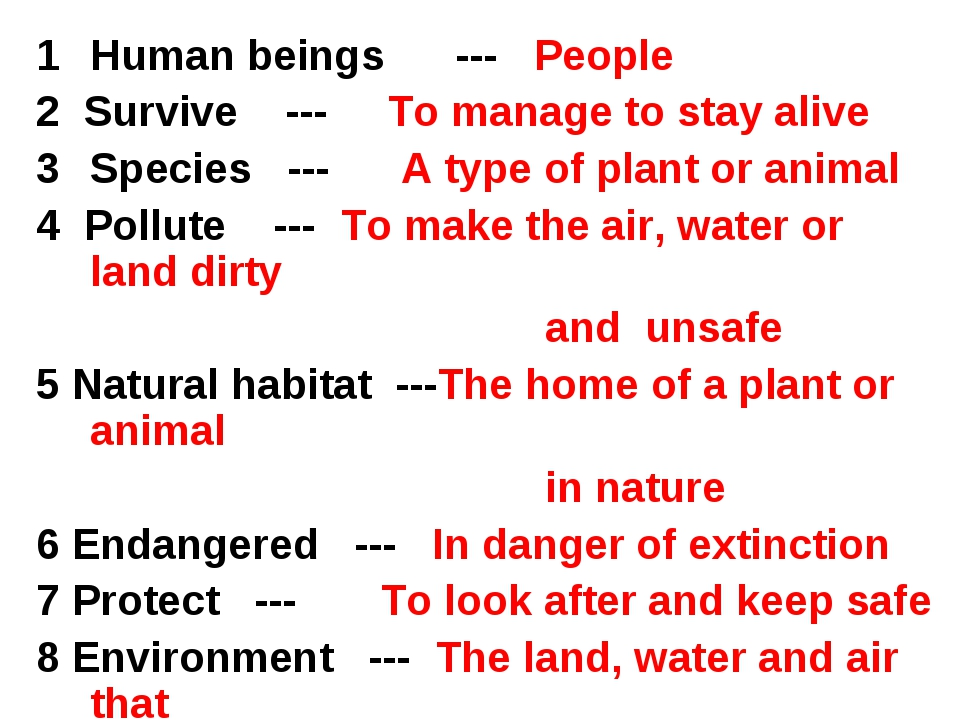 Human beings --- People 2 Survive --- To manage to stay alive Species --- A t...