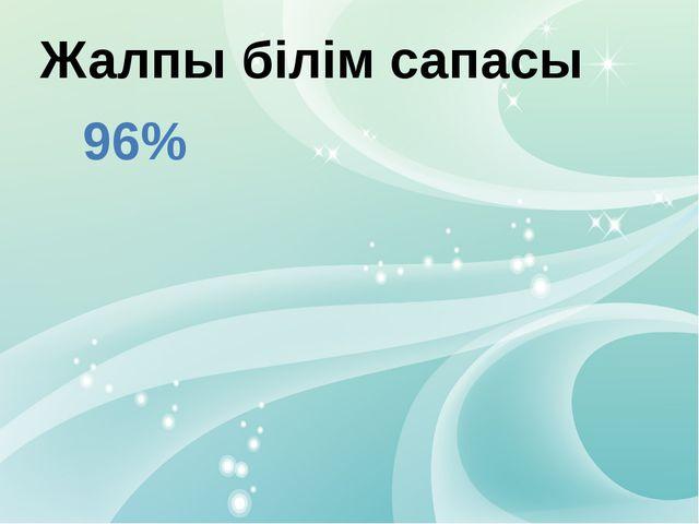 Жалпы білім сапасы 96%