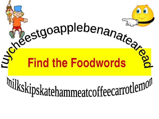 Find the Foodwords