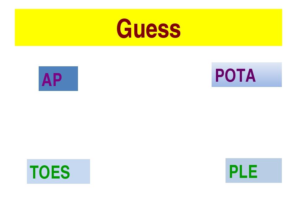 Guess POTA AP PLE TOES