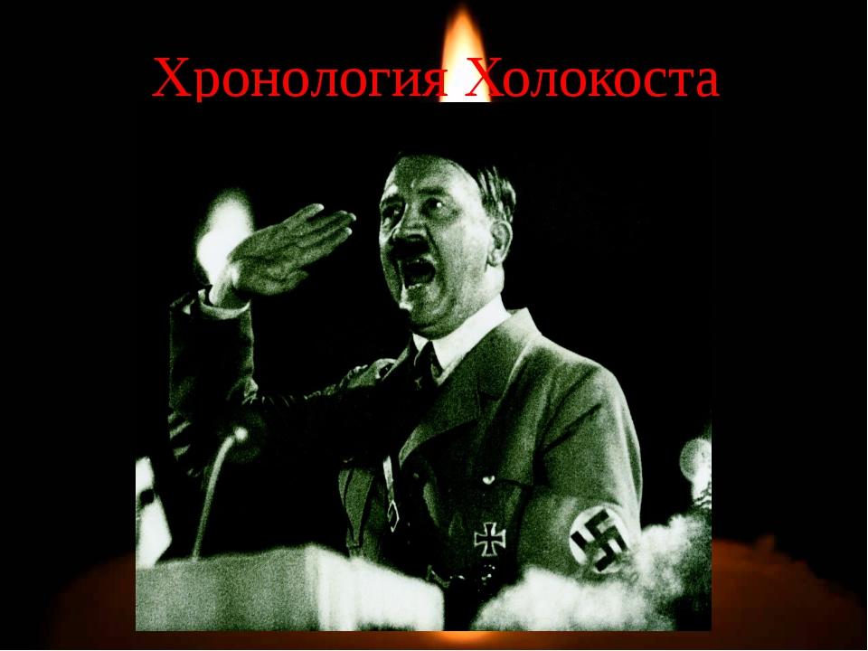 Хронология Холокоста