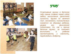 УШУ Спортивные кружки в детском саду также ставят перед собой задачу воспитан