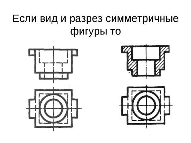 Если вид и разрез симметричные фигуры то