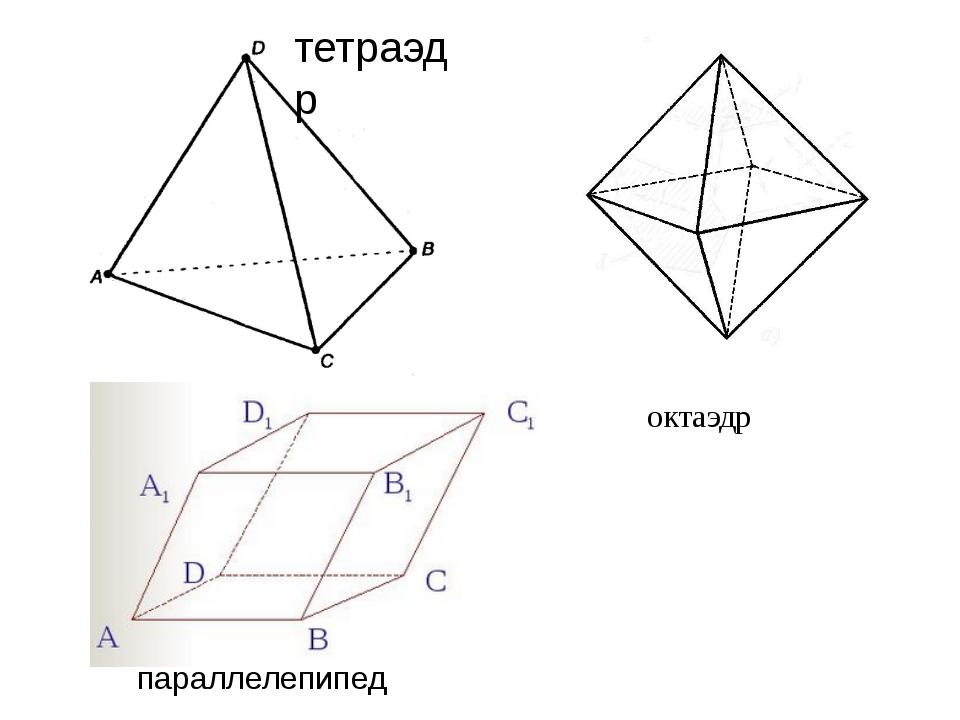 тетраэдр параллелепипед октаэдр