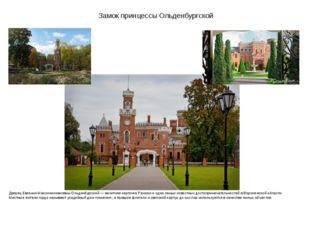 Замок принцессы Ольденбургской Дворец Евгении Максимилиановны Ольденбургской