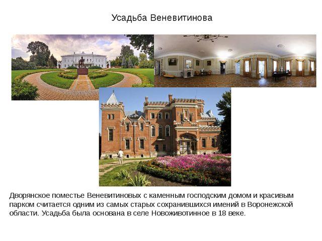 Усадьба Веневитинова Дворянское поместье Веневитиновых с каменным господским...